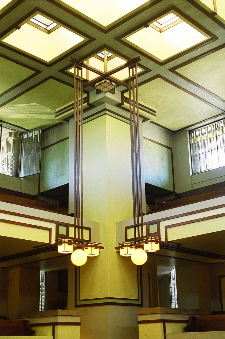 Unity Temple. Frank Lloyd Wright. Oak Park, Illinois. 1905-9