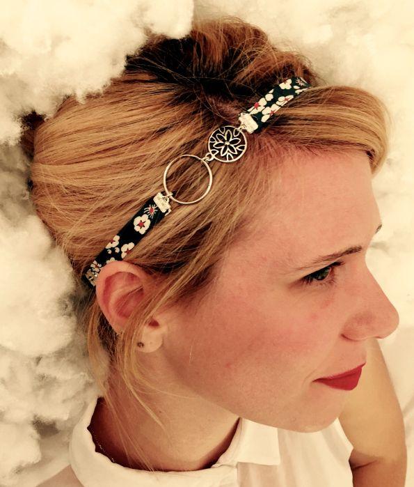 Petit tuto pour réaliser un headband tout en fleurs. #DIY #faitmain #headband  https://pinklemoncreations.wordpress.com/2015/09/21/le-headband-fleuri/