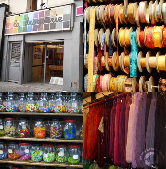 { La Droguerie }  … for its large choice of haberdashery for craft projects