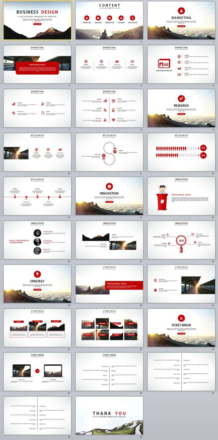 29+ Red Business Report PowerPoint Templates