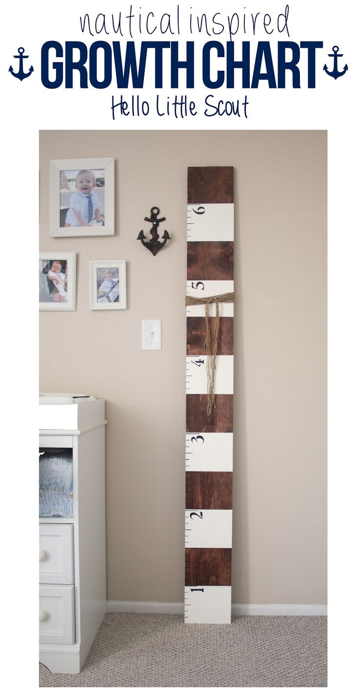Nautical themed bedroom for boys - Nautical Growth Chart Good Idea They Can Take With Them