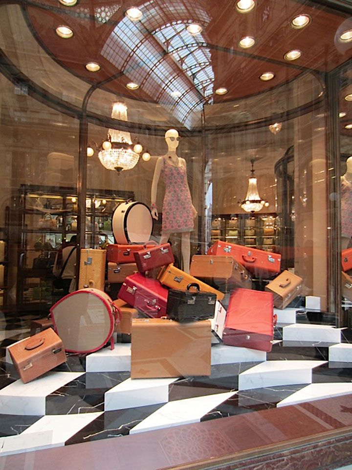 Prada windows, Milan visual merchandising