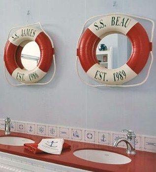 nautical bathroom accessories, theme bathroom mirrors, bathroom decorative accessories
