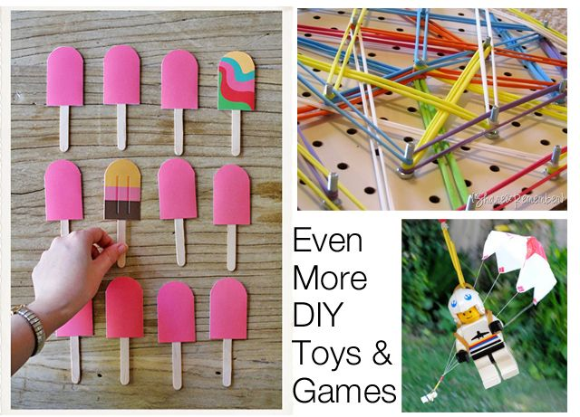 Homemade Toys Part I, II and III - an amazing resource from Modern Parents Messy Kids