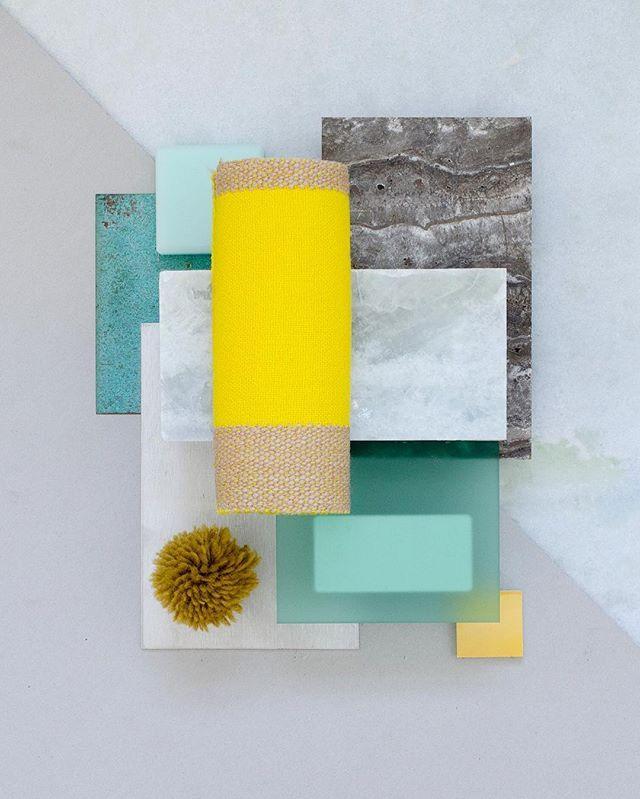Nursery Mood Board ~ Bright Yellow & Mint