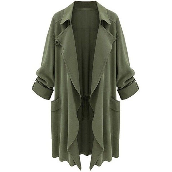 Chartou Women's Asymmetric Oversized Open-Front Lightweight Duster... (87 BRL) ❤ liked on Polyvore featuring tops, cardigans, asymmetrical tops, oversized cardigan, lightweight tops, asymmetrical cardigan and open front tops