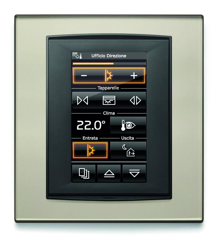 Vimar - Una accoglienza da favola! Touch screen da incasso per la gestione centralizzata dell'ufficio con il sistema Well-contact plus della serie Eikon.