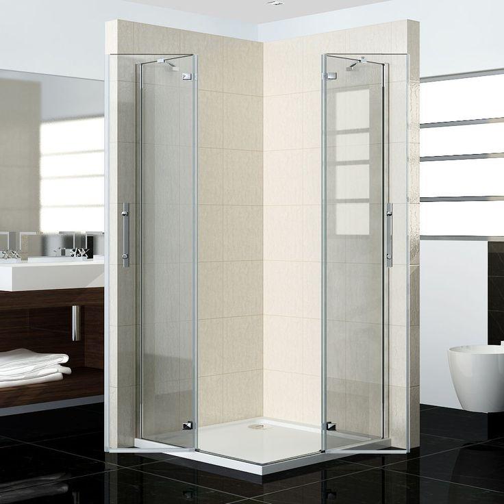 Pivot Frameless Corner Entry Shower Enclosure Shower