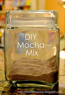 DIY Mocha mix since the nearest coffee place is 30 minutes away.