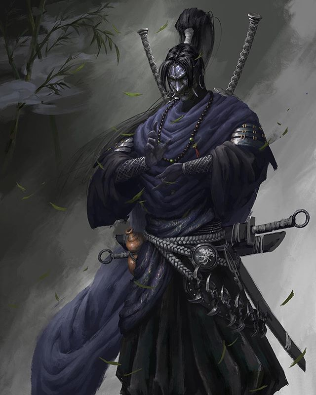 Martial samurai art by Xiaojian Liu