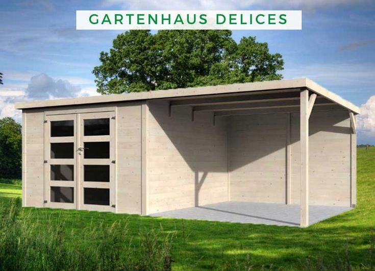 Gartenhaus Delices 28mm Gartenhaus, Gartenhaus flachdach