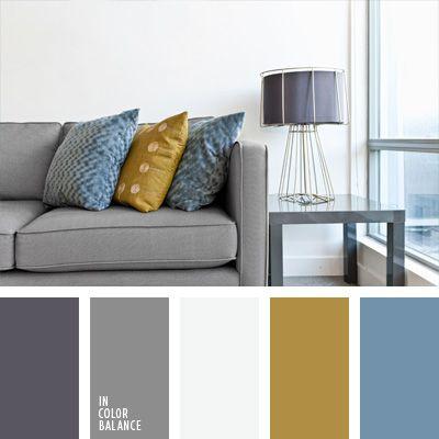 celeste y amarillo, color gris en la decoración de un piso, combinación de colores para decorar interiores, combinaciones de colores, elección del color, objetos grises, selección de colores para el diseño de interiores, sofá gris, tonos grises.