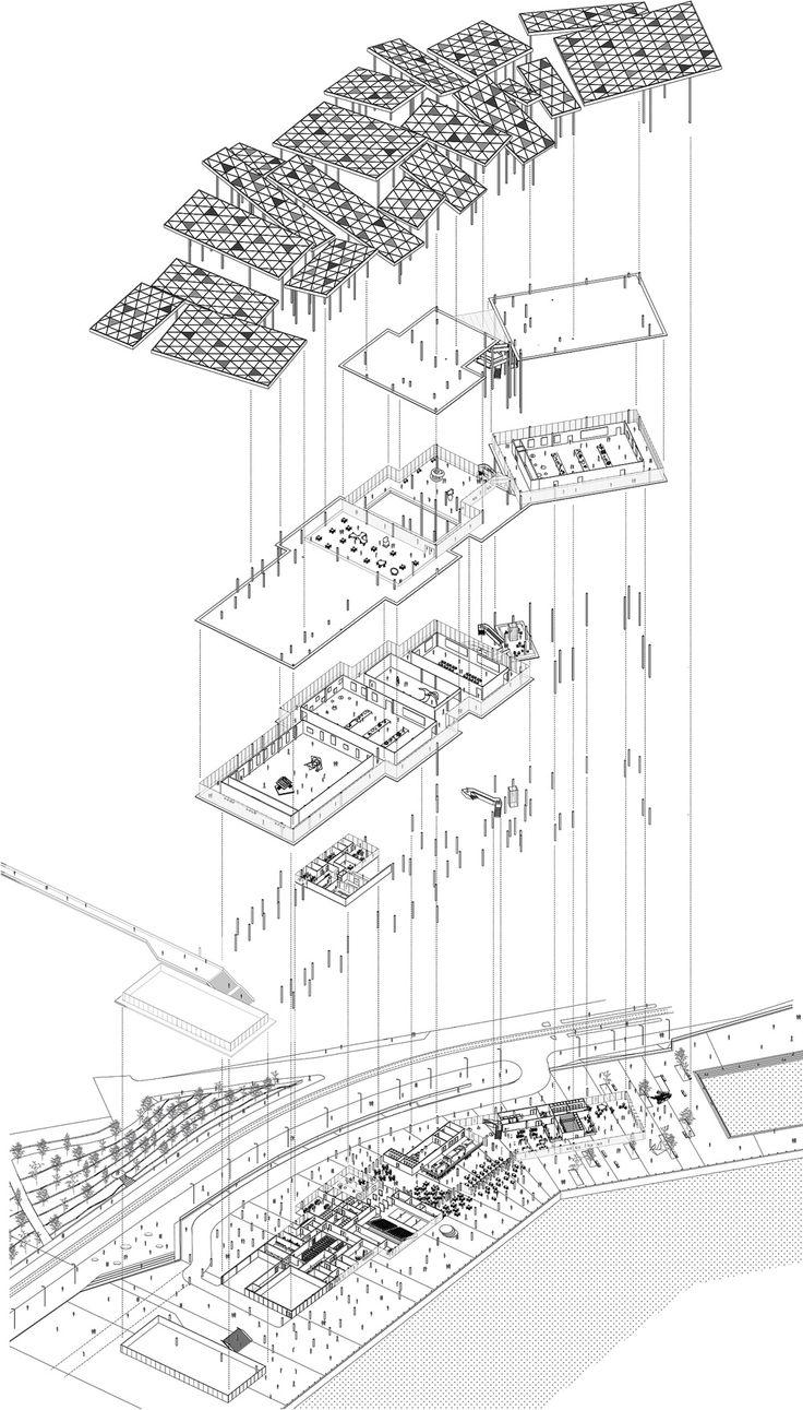 921 best Architecture // plans, axos, isos & explos images