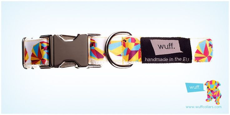 Wuff Dog Collar - Vizsla White, Not only Hungarian Vizslas, Deutsche Kurzhaars, Bracco Italianos and Weimaraners but Pointers also look great in this WUFF collar. http://www.wuffcollars.com/en/item/Vizsla_Collar-111  Item Code: 111