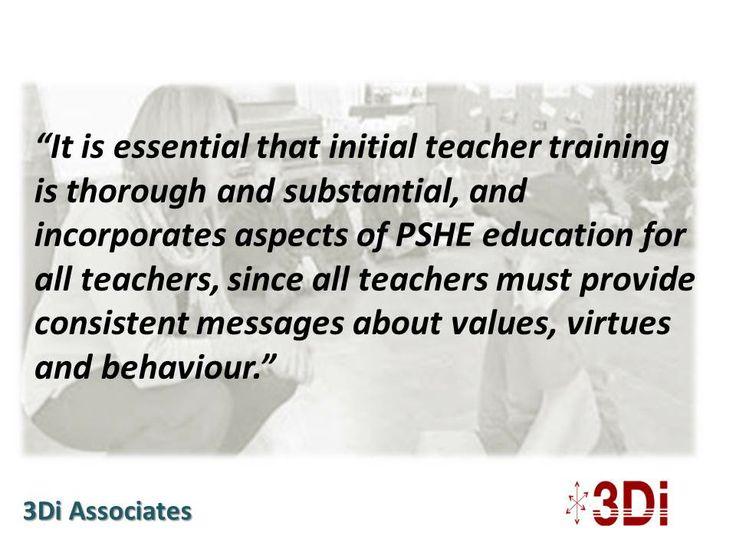 All teachers should have PSHE Education training. http://wp.me/p1YZsx-V