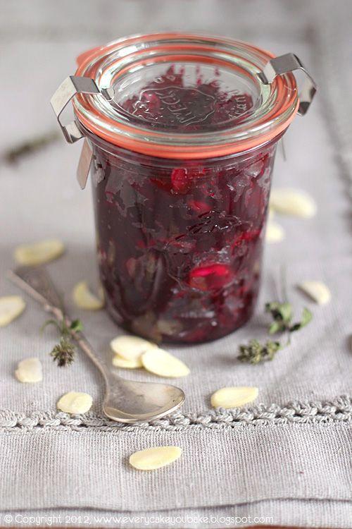 konfitura buraczano-migdałowa, beetroot and almond jam #buraki #konfitura #beetroot