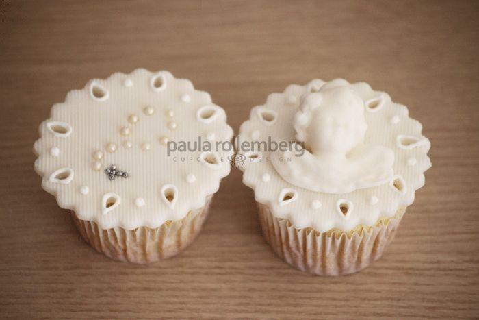 Cupcake batizado provençal