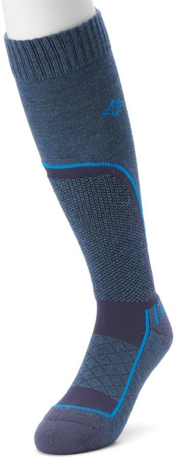 Columbia Men's Over-The-Calf Wool-Blend Cushioned Ski Socks
