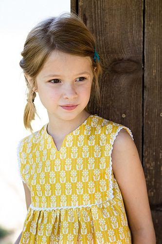Hide and seek dress (oliver + s). Lovely summer version - Stitched Together #Sew #SewforGirls #Dresses