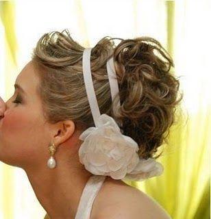 peinado novia, moño con cinta diadema