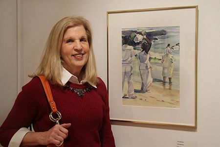 "Terri McNichols' watercolor ""The Baptism,"" part of the Mercer County Artists 2015 exhibit at The Gallery at Mercer.The MCCC Fine Arts instructor specializes in watercolor and will teach a 10-week class at Mercer starting Feb. 26."