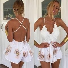 Strappy Sexy Strapless Romper Jumpsuit – omei.co
