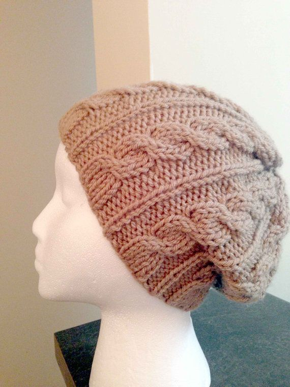 Knitted Cable Hat/Soft Winter hat/Adult Cable Pattern by Knitkozi, $20.00 For more selection of these beautiful hats please visit: https://www.etsy.com/ca/shop/Knitkozi?ref=si_shop