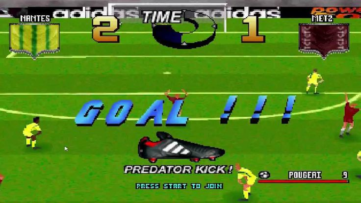 One of the crazies soccer games ever. Just look at those golas on the gameplay and good luck with figuring out what the hell is going on :) PREDATOR KICK EVERYBODY :P