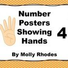 Cute Dots and Chevron number posters from 0-10 also showing hands...