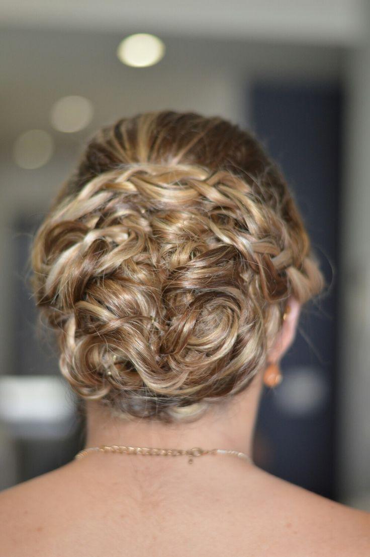 Low structured bun and braid by #thewyeteam Books @ weddings@wyecosmetics.com.au