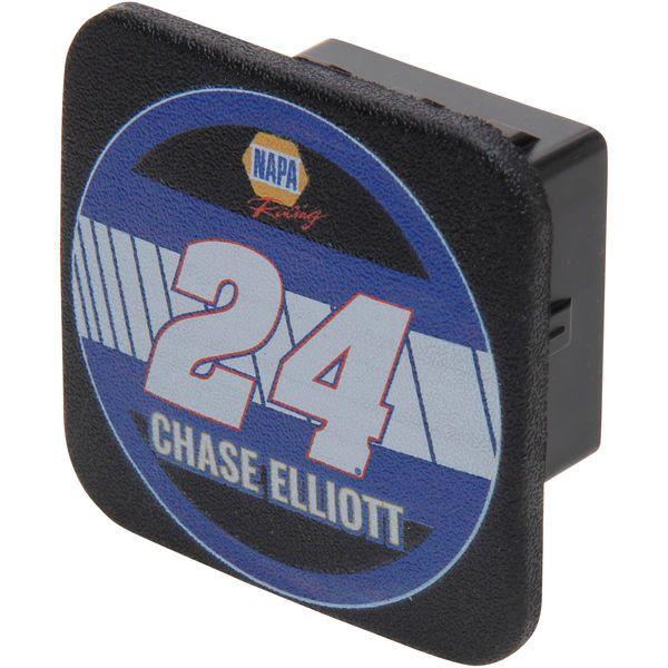 Chase Elliott Racer Rubber Trailer Hitch Cover