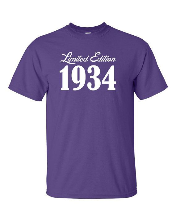 1934 Limited Edition 80th Birthday Party Shirt T-Shirt Tee Shirt T Shirt Mens Ladies Womens Funny Modern  Tee  B-241