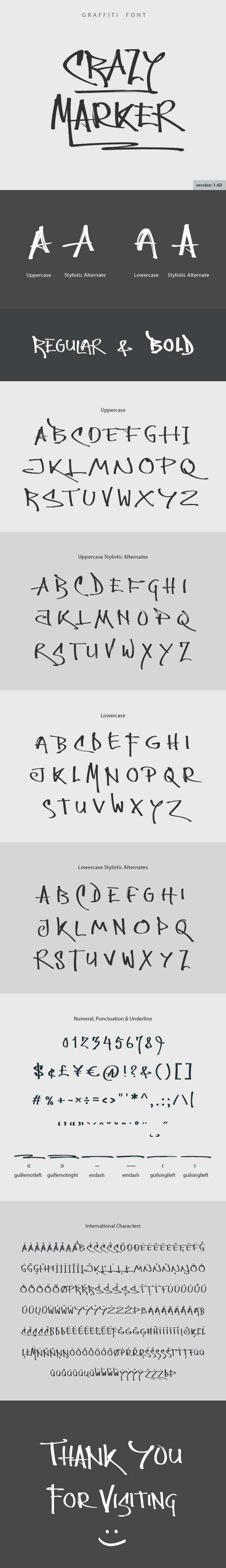 Crazy Marker Graffiti Font — TrueType TTF #font #script • Available here → https://graphicriver.net/item/crazy-marker-graffiti-font/18984817?ref=pxcr