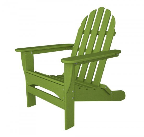 "POLYWOOD Adirondack Chair (Lime) (35.75""H x 29.00""W x 35.75""D)"