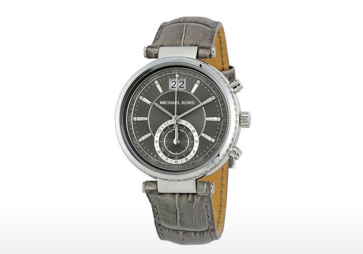 Γυναικείο ρολόι Michael Kors με γκρι κροκό δερμάτινο λουράκι! | Προσφορά Deals365.gr