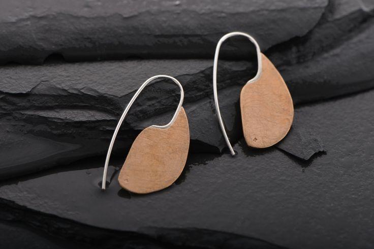 Large Bronze Modern Ulu earrings