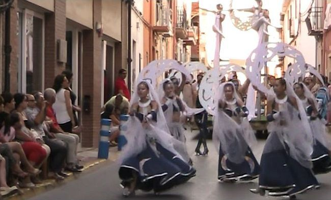 Dancers at Benitachell moors and christians 2014