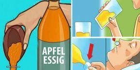 In Wasser gelöster Apfelessig kann eine Reihe von Krankheiten und gesundheitlicher Beschwerden bekämpfen. Um eine besondere Wirkung zu erzielen, solltest du die Mischung am Abend vor dem Schlafengehen trinken.