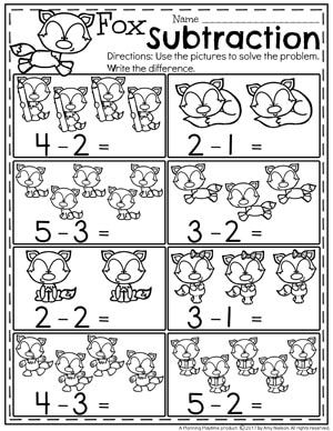 subtraction worksheets  stuff for my class   pinterest  subtraction under  worksheets for kindergarten