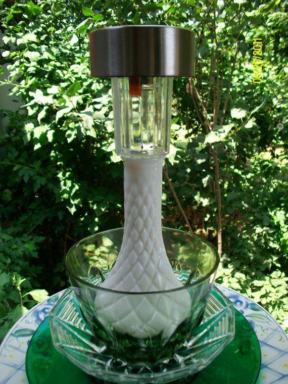 Recycled Glass Handmade Garden Solar Light