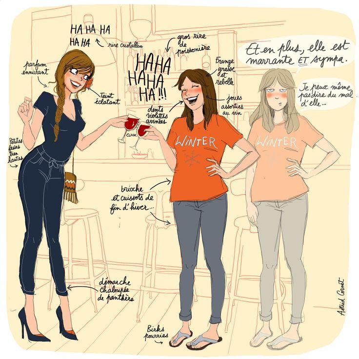 #illustration #illustratrice #humour #lesmeufs #jalouse #jalousie