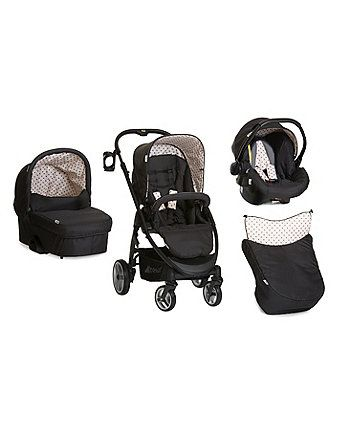 Hauck Lacrosse All in One Travel System - Dots Caviar | prams & pushchairs | Mothercare