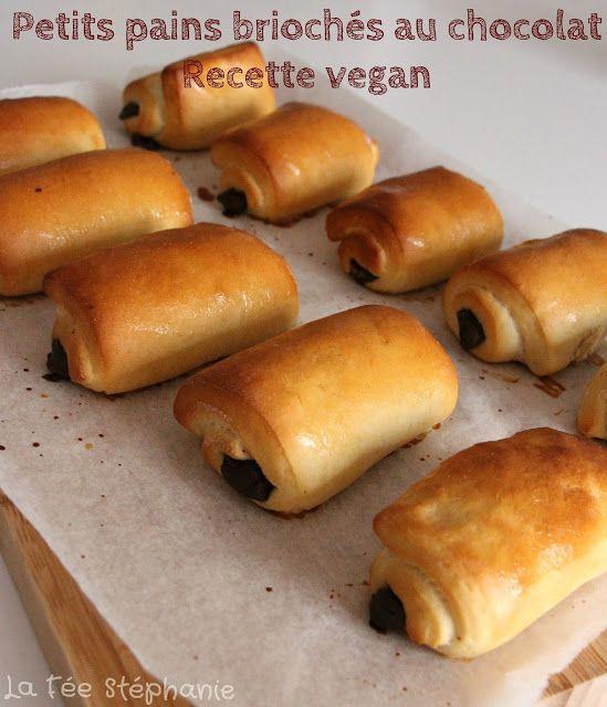 La Fée Stéphanie: Petits pains briochés au chocolat faits-maison avec la méthode Tang Zhong, sans beurre, sans oeuf, sans soja ni lactose!