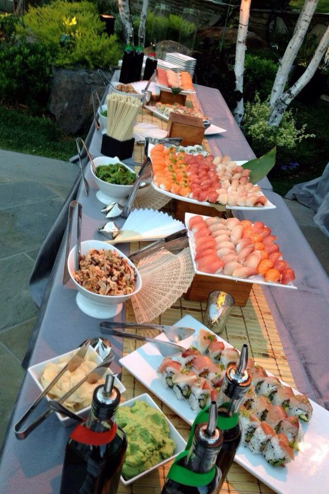 #HLo-Tips: Barra de sushi para cualquier cena formal o informal sólo depende de como se presente los alimentos.