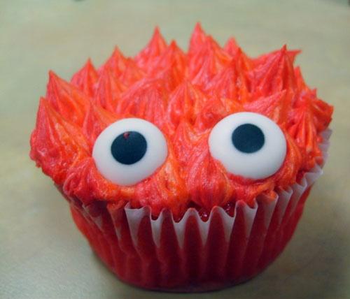 A Calcifer cupcake! #HowlsMovingCastle