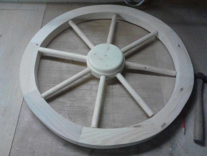 Make A Replica Wagon Wheel Crafty Pinterest Woodworking And Wooden