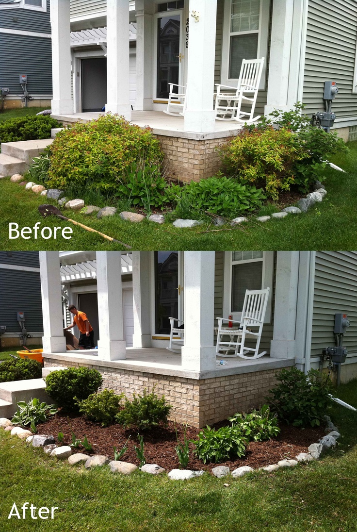 before and after landscaping portfolio