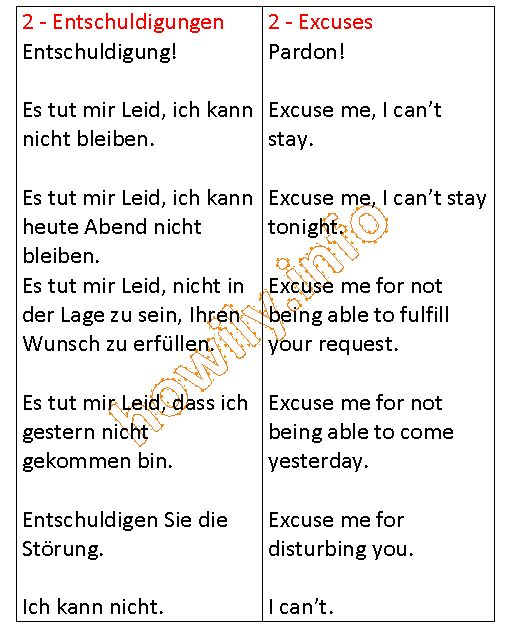 German For Beginners: Excuses in German