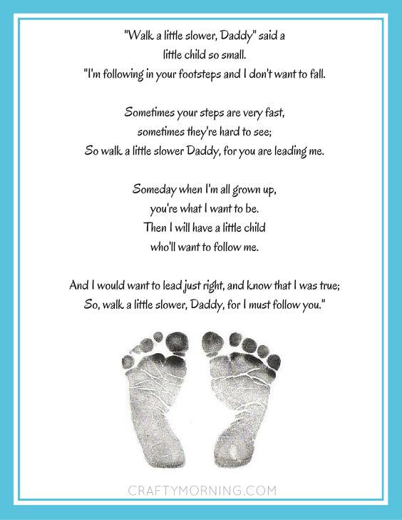 Little Feet Poem | Favorite Super Hero Printable    Pitter Patter Poem | All About My Dad Printable    Walk with me Daddy Poem | Walk a little slower Daddy Poem Fishing with Grandpa/Daddy Poems Baseball Father's Day Poem Printables   Make sure to follow Crafty Morning on Facebook, Pinterest, and Instagram or subscribe to our …
