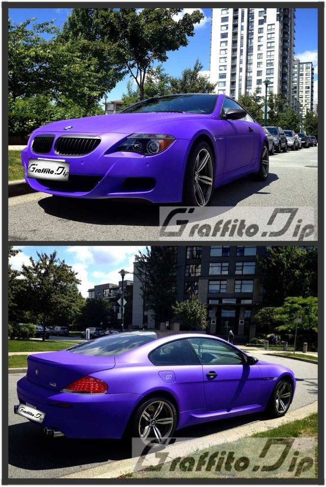 Hi Pinterest, here is Graffito Dip. We offer professional car dipping services with cheap prices. We will show you more pics of our works here. This is our current piece of work on BMW M6 from gloss white to matte purple! Like and follow us if you are a car fans*~
